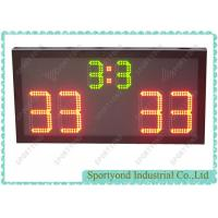 Volleyball electronic scoreboard with red digit scores display