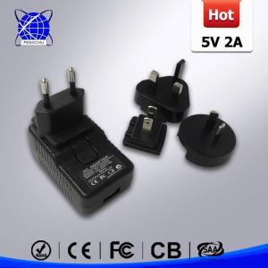 China 5V 2A USB Charger with 4 plugs (AU / EU / USA/ UK ) on sale