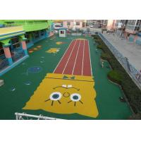 China Fantastic High Density Artificial Grass Landscaping , Coloured Artificial Turf PE Material wholesale