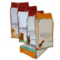China Self Standing Fresh Pet Food Quad Seal Bags , Four Side Sealed Bags wholesale