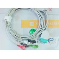 Gray Color GE One Piece Ecg Patient Cable For Patient Monitoring Devices