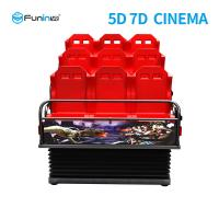 China Metal Screen 7d Simulator Cinema 6 / 9 Seats With Wind Effects Electric System wholesale