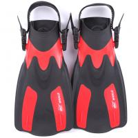 China Open Heel Lightweight Skin Diving Fins Strong Propulsion Comfortable Foot Pocket wholesale