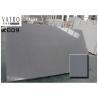 China Grey Crystal Artificial Quartz stone Slab Prefab Countertop Solid Surface Color Consistency wholesale