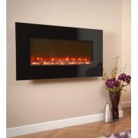 "China 50"" wall mounted electric fireplace classic flame felicity WF-50 real coal log fuel effect modern real flame decor home wholesale"