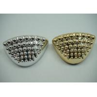 China Durable Golden / Plated Silver Toe Cap Round Shape Footwear Accessories wholesale