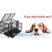 China Hot Sale Dog Cage with Wheel 78X41.5X47 CM(Best Quality, Direct Factory, Low Price, Fast Delivery), Custom heavy duty Al wholesale