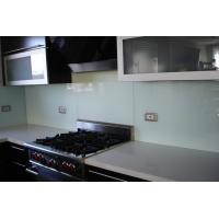 China Painted Glass Kitchen Backsplash , Seamless Glass Backsplash on sale