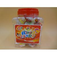 China Ring Toy Compressed Candy With Dextrose Yellow / White / Green Color on sale