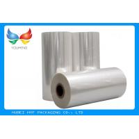 China 45mic Thermal Heat  PVC Shrink Film Rolls , Pvc Shrink Wrap Film For Plastic Bottle Label wholesale