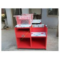 China Custom Simple European Checkout Counter / Red Store Cash Desk wholesale