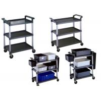 China Foldable Restaurant Or Hotel Room Service Cart Stainless Steel With Plastic And Tote Box on sale