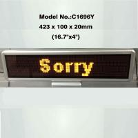 Factory price 17''x4'' USB rechargeable  and programmable 16x96 dots led display panel