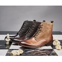 China Durable Fashion Comfortable Mens Leather Dress Boots ,  Military Men Boots on sale