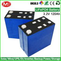 China factory lifepo4 battery 3.2V 120ah lifepo4 battery cell for solar wholesale