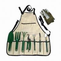 China Garden tool set with apron, customized tool kits and logo are accepted on sale