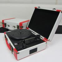2014 portable colorful PU suitcase turntable record player with MP3 converter