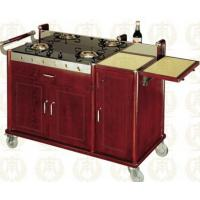 China Double Head Abalone Cart Luxury Room Service Equipments 1420*600*940mm on sale