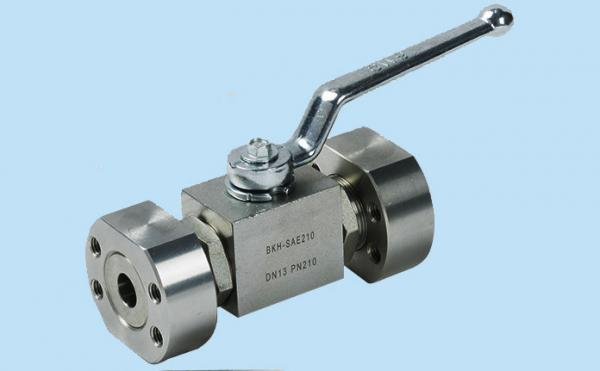 Quality 1'' Carbon Steel Hydraulic Valves High Pressure BKH & MKH Ball Valve With SAE - Flange for sale