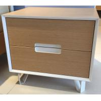 China Sturdy storage wood cabinets, 2 drawers and stable steel supporting legs wholesale