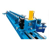 China 3 Inch Galvanized Steel Profile Roller Shutter Door Guide Rail Roll Forming Machine With PLC Control on sale