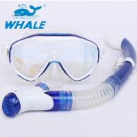 China Silicone Mouthpieces Dry Snorkel Set For Wave Professional Free Breath Diving wholesale