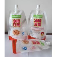 China High Barrier Stand Up Liquid Spout Bags With Spout For Soybean Milk wholesale