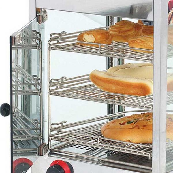 Glass Food Warmers ~ Glass food warmer display showcase images
