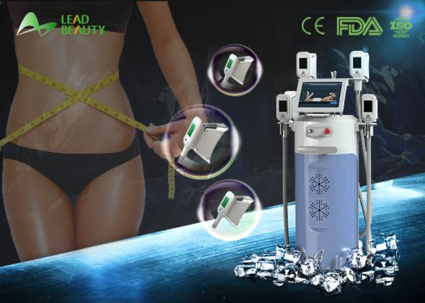 Quality 4 Handles Cryolipolysis Slimming Machine / Cryotherapy Fat Freezing Machine for sale