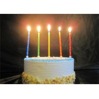 China Star Printed Personalized Birthday Candles Red Blue Yellow Green Orange Pillar Candles wholesale