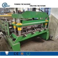 China 0.8-1.2mm Thickness 30Kw Auotomatic Galvanized Steel Floor Decking Roll Forming Machine wholesale