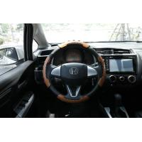 China 13 Inch Nubuck Leather Steering Wheel Cover , Universal Steering Wheel Cover High Performance on sale