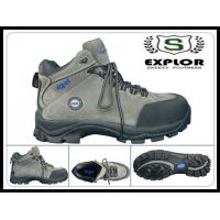 China Men's safety boots rubber boots with steel toe nubuck leather work shoes grey wholesale
