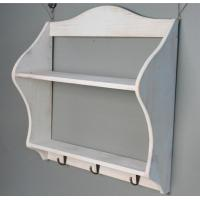 China Wooden wedding decoration Multi-function Storage Rack shelf Wood Sundries Holder with hook wall sticker wholesale