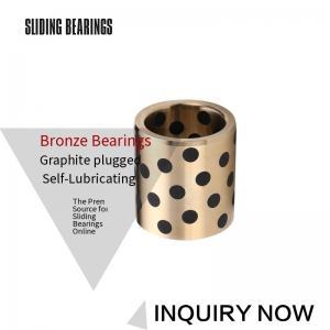 China Custom Machined Self Lubricating Plain Bearing / Cast Bronze Bushings on sale