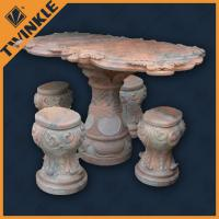 China Contemporary Marble Garden Ornaments / Rectangular Red Marble Table wholesale