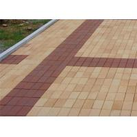 China Low Water Absorption Outdoor Wood Floor Tiles , Thin Brick Pavers For Garden / Landscape wholesale