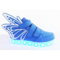 China Blue Children Smart Casual Shoes For Men Sneakers With Lights wholesale