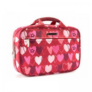 China L28*D8*H19CM Portable Vintage Heart Printed Makeup Bag Case wholesale