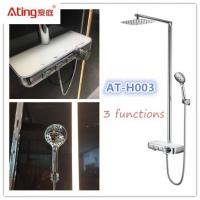 China AT-H003 thermostat controlled shower valves #304 SS Luxury Rainfall Shower faucets with hand shower water outlet wholesale