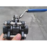 China 3PC Oil Industrial Ball Valves with Socket - welding End , Lockable Handle wholesale