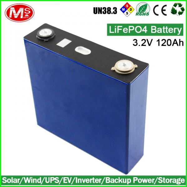 Quality Sealed LiFePO4 Batteries For Solar , 3.2V 120Ah Wind Generator Batteries for sale