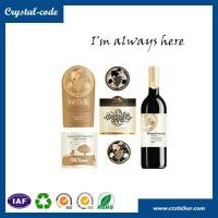 China Personalized popular standard wine label size,metal wine bottle label,wine label wholesale