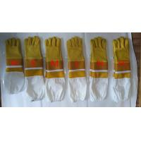 China Half Ventilated And Extended Bee Gloves Beekeeping With Wrist Safeguard wholesale