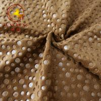 China 2mm 250gsm Hot Stamping Gold Stamp and Foil Printing velour fabric for Car Seat Cover and furniture on sale