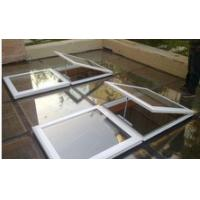 China china Residential flat roof electric skylight window Aluminum frame with glass and blinds wholesale