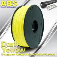 China Dark Yellow ABS  Filament ,  Filament 3D Printing Plastic Material 1.75 / 3mm on sale