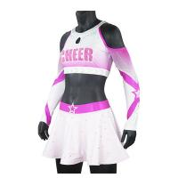 China Premium Pink Sparkle Cheer Dance Clothes For Women Breathable Anti Wrinkle wholesale