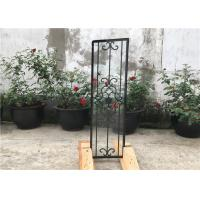 China Square Top Eyebrow Wrought Iron Glass Galvanized Steel Anti Rusting wholesale