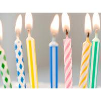 China 24 Pcs Spiral Kids Birthday Candles For Party , Disposable Swirl Birthday Candles wholesale